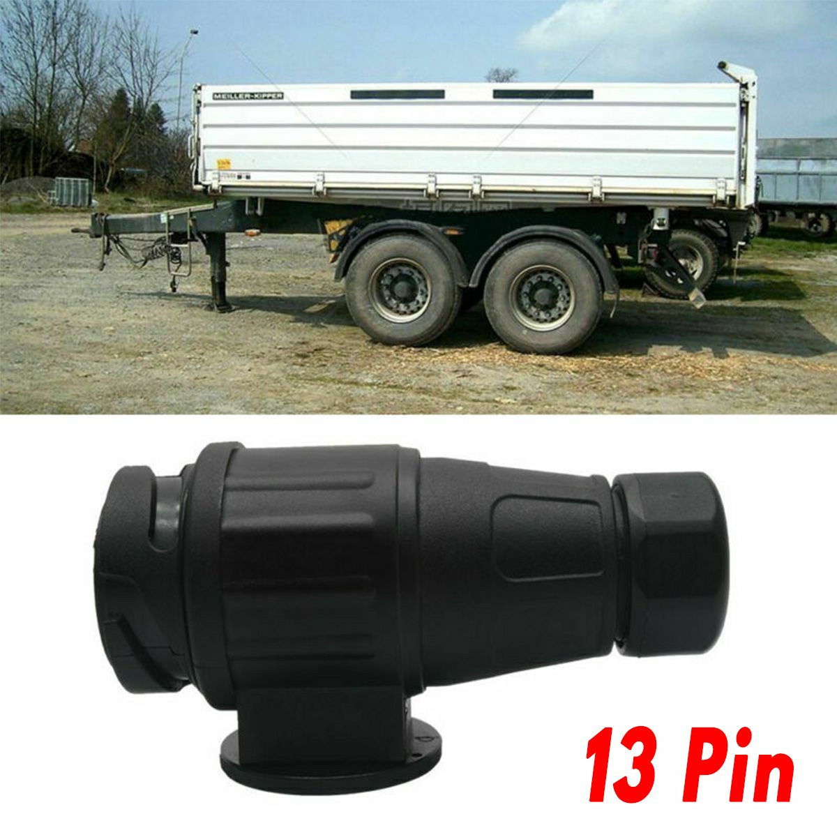 13 PIN CARAVAN PLUG PLASTIC TOWING CONNECTOR TRAILER SELF WIRE MAYPOLE 12V For Caravans And Newer Trailers LEX3018