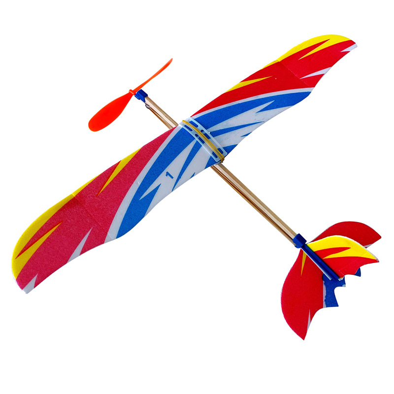 New Foam Hand Throw Airplane Rubber Band Powered Aircraft Outdoor Launch Glider Plane Model DIY Kids Toys Gifts Interesting Toys