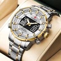 LIGE orologi per uomo orologio da polso al quarzo sportivo di marca di lusso orologio digitale militare impermeabile orologio da uomo in acciaio Relogio Masculino