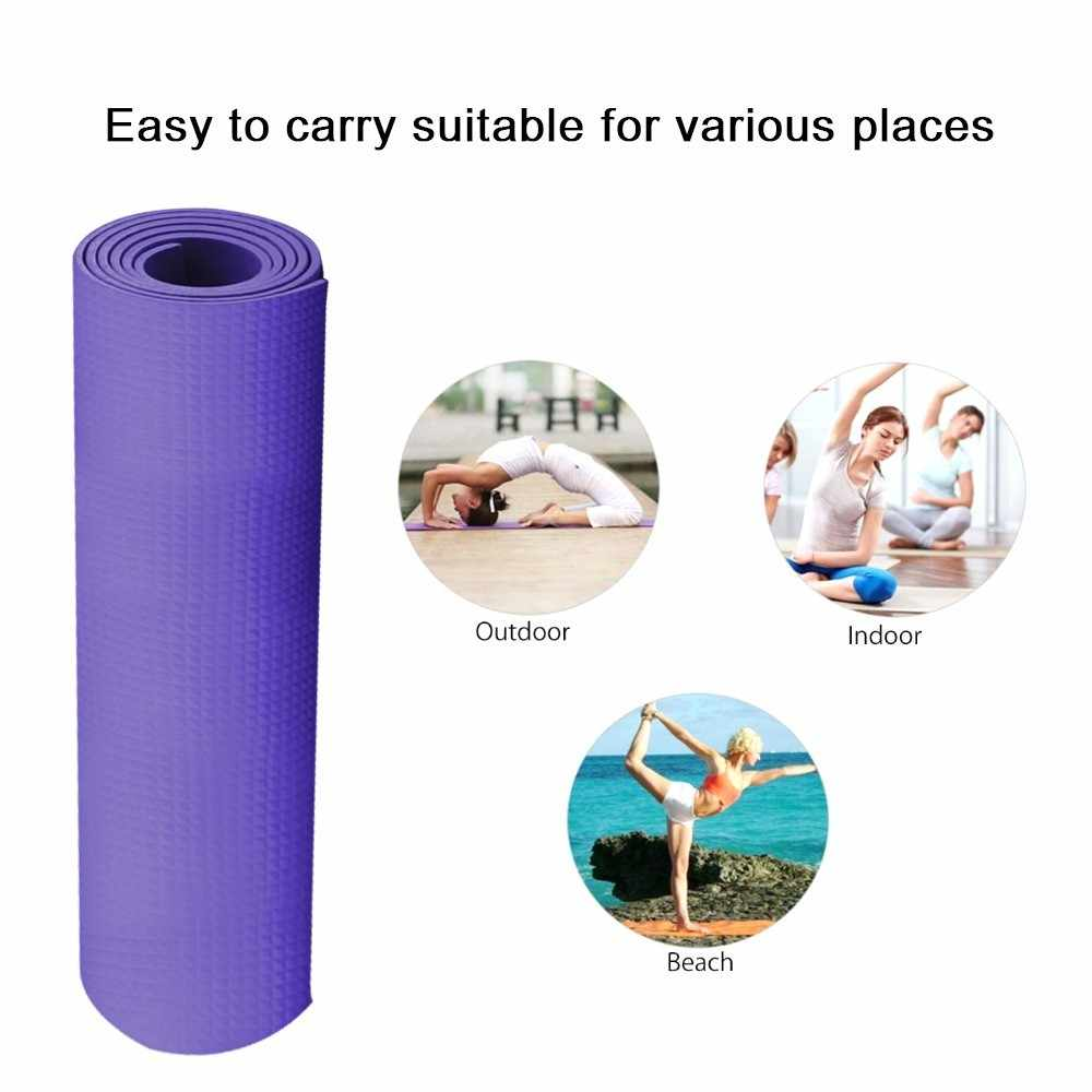 4MM Thick Yoga Mat Gym Camping Non-Slip Fitness Exercise Pilates Meditation Pad