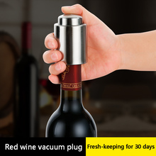 Vacuum sealed wine and champagne corks Preservation tool Bar supplies Stainless steel sealing machine Bartender accessories