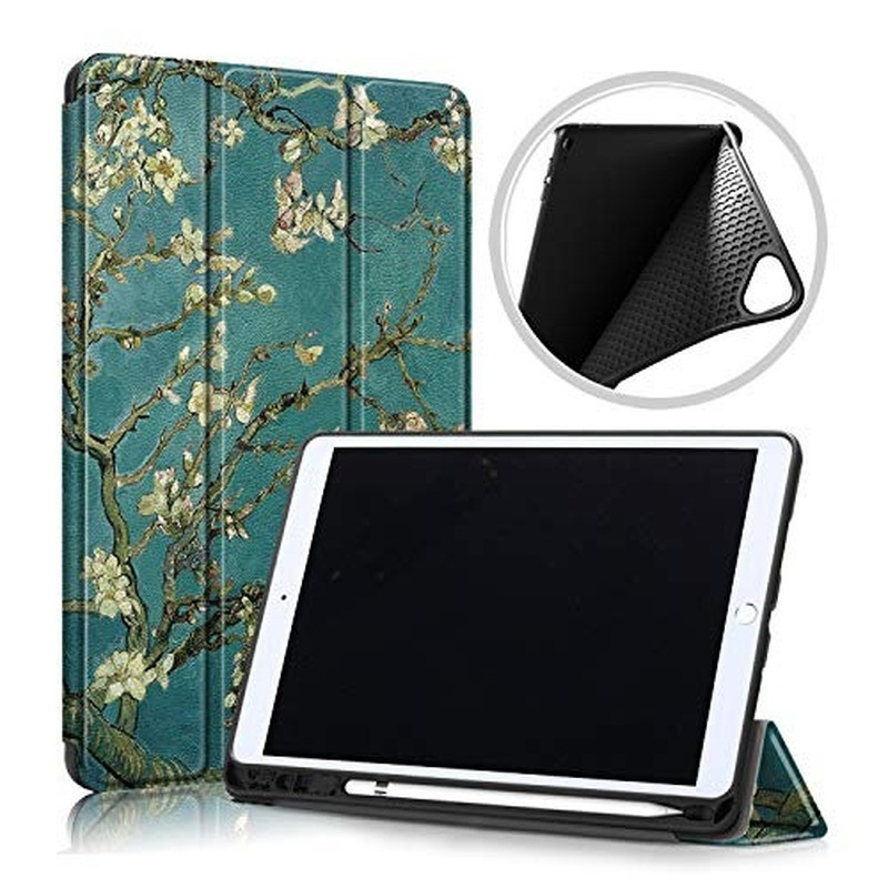 Tablet Case For New IPad 7th Generation 10.2 Inch Tablet 2019 Soft TPU Back Trifold Stand Smart Cover For New Ipad 10.2 Case