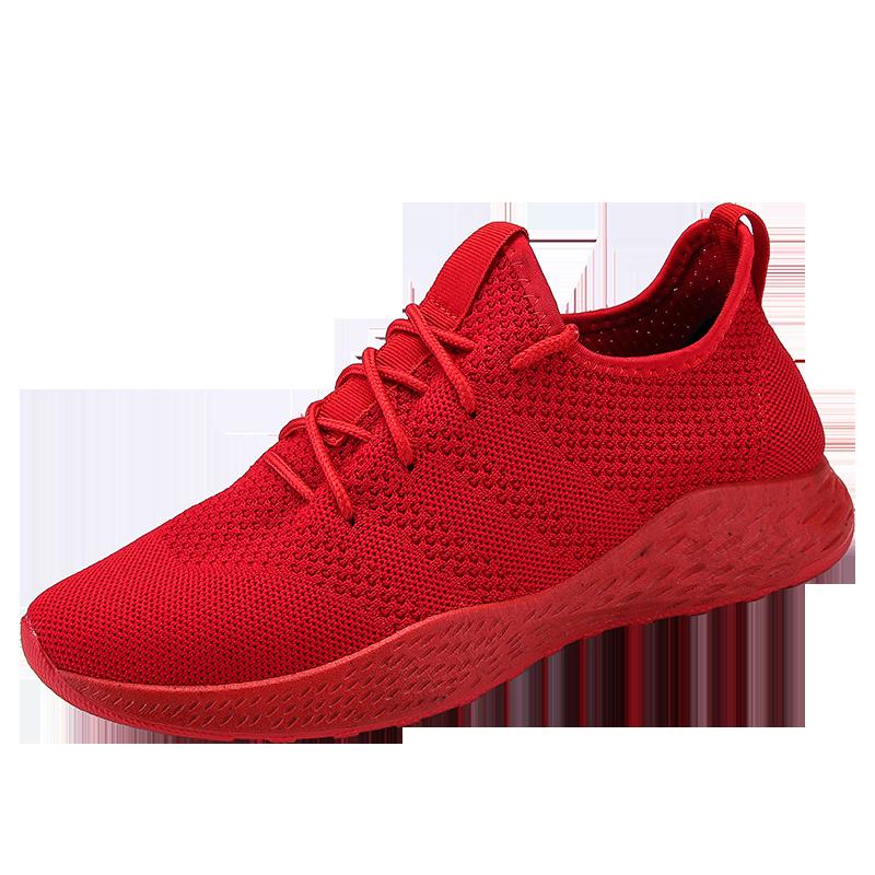2019 nuevas zapatillas de deporte para hombre Casual transpirable luz cómoda zapatos de hombre con cordones Moda hombre zapatillas básicas