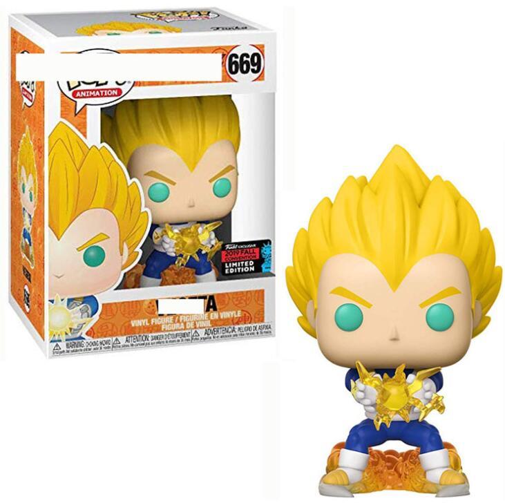 Funko Pop Amine Dragon Ball Son Goku Frieza #669 Vegeta IV Action Figures Collection Movie Model Toys For Kids Christmas Gift
