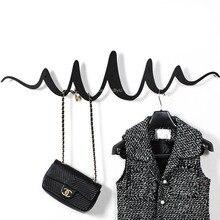 Скандинавские ins креативные настенные пальто стойки вход крыльцо вешалка в качестве украшения крюк Горизонтальная геометрическая волна вешалка