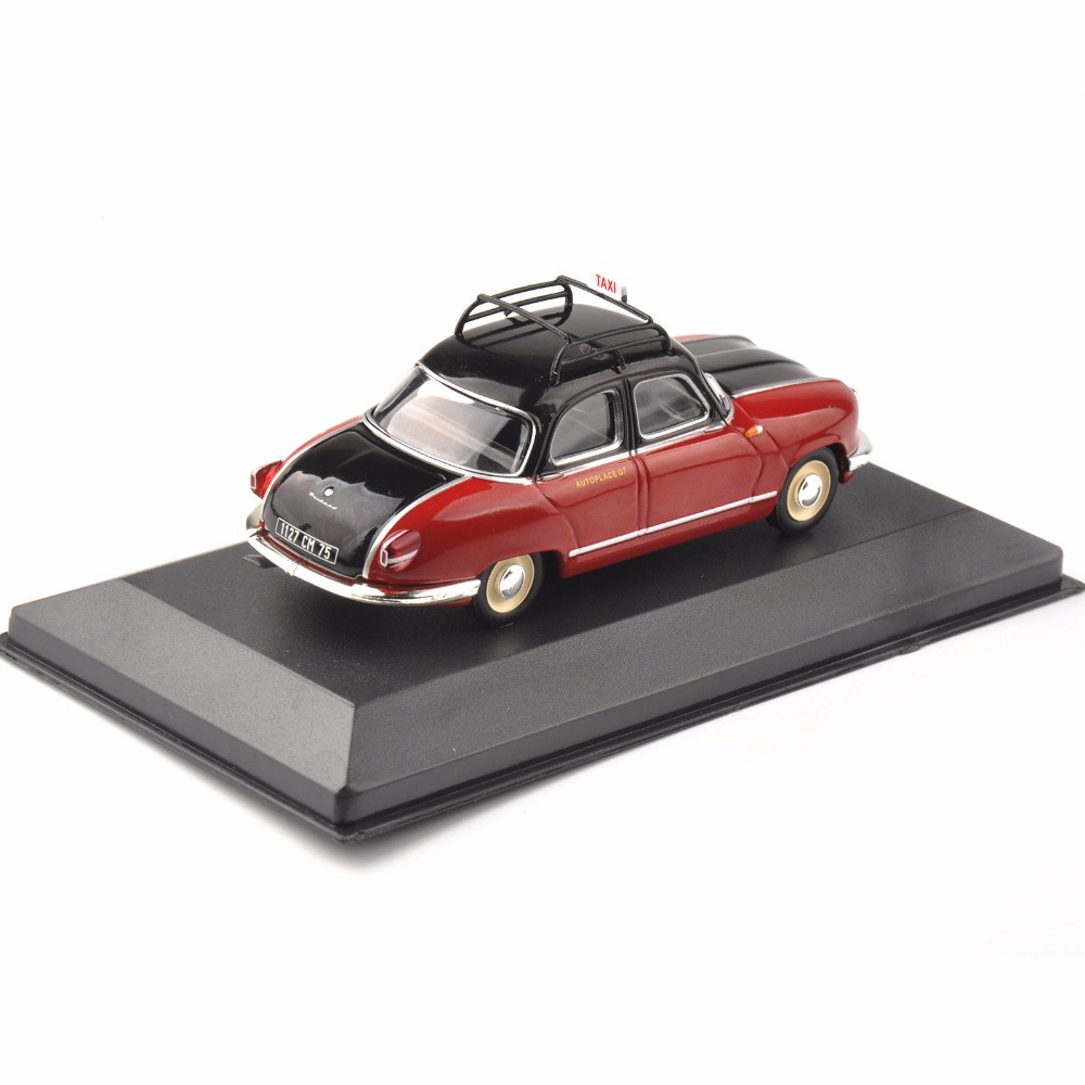 Cheap Kids 1/43 Toys Diecast <font><b>IXO</b></font> Red Taxi Model Panhard Dyna Z (Paris ,1953) Vehicle Car Toys New Year gift image