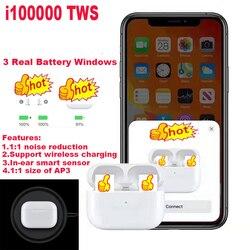 Оригинальный i100000 TWS воздуха pro3 1:1 копия Earbus Беспроводной Bluetooth наушники pk w1 h1 1536u чип i500 i10000 i20000 i90000 pro TWS