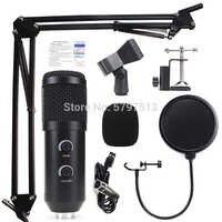 Kit de micrófono de estudio condensador bm900, grabación profesional bm 800 bm800, micrófono usb con Digital echo y ajuste de volumen