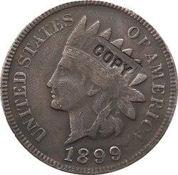1899 копия монеты в индийском стиле, бесплатная доставка