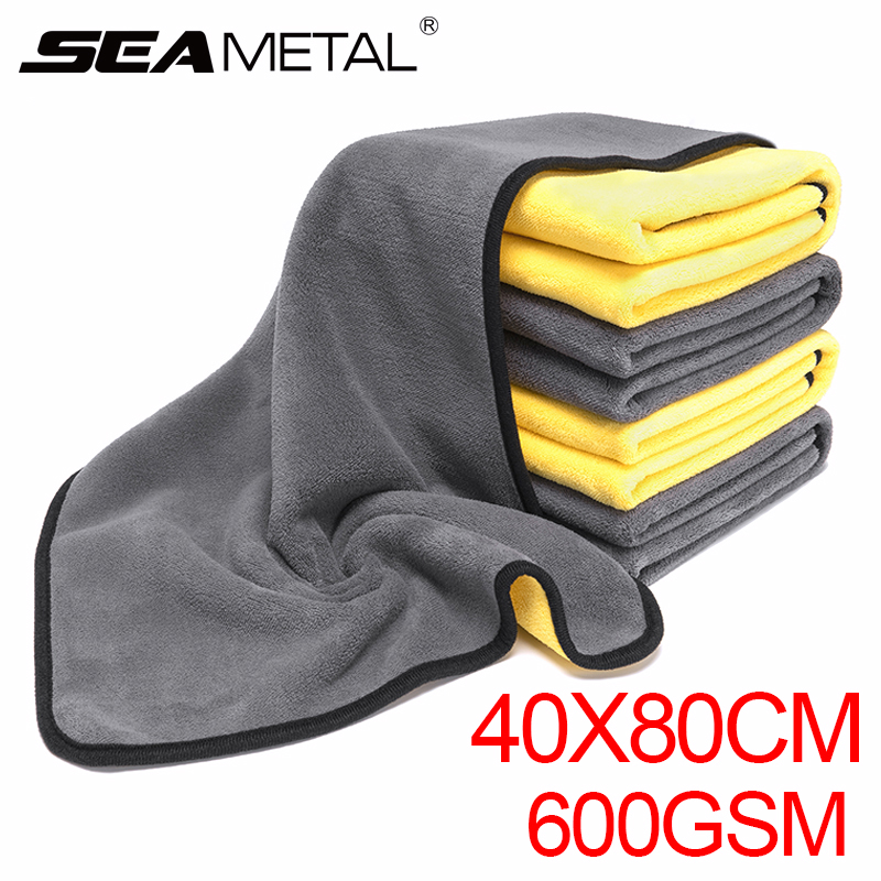Microfiber Towel Car Wash Cloth Super Thick Absorbent Cleaning Drying Rag Car Care Polishing Detailing Cleaning Towel 80x40cm