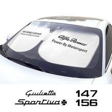 Alfa Romeo Giulia için Giulietta 156 147 159 Mito Stelvio Sportiva araç ön camı şemsiye şemsiye kapağı otomatik Anti UV reflektör