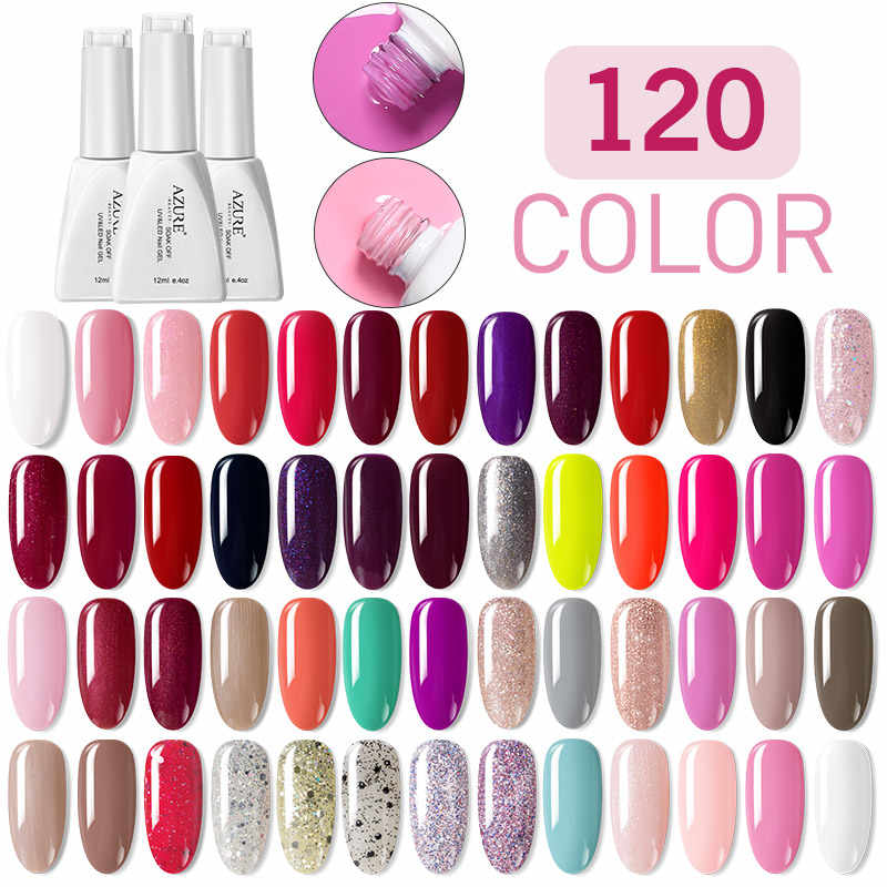 Azure Beauty 120 Warna Dijual Hot Warna Seri Gel Tahan Lama Rendam Off Gel Cat Kuku DIY Kuku gaya Gel Nail Lacquer