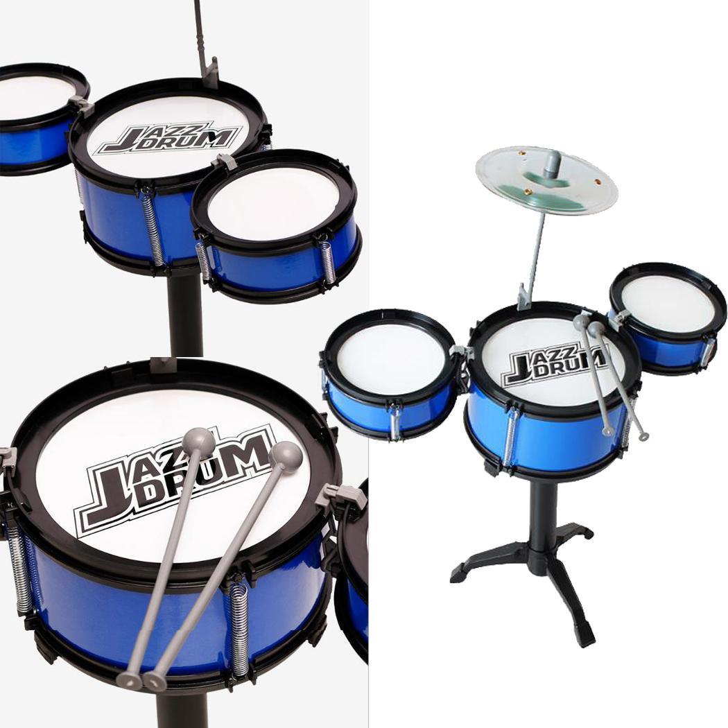Kids Three Drum Set Children Percussion Musical Instrument Educational Toys