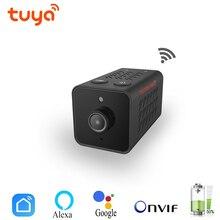 Tuya 1080P mini ip camera WIFI CCTV Nanny Cam Battery Onvif TF Video Camcorder Audio Home Security Smart life Alexa Google Home