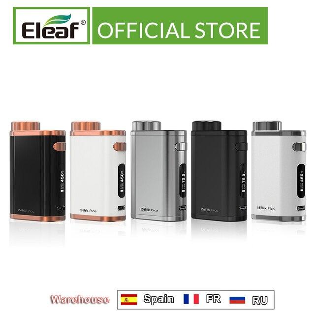 RU/US/ES/FR entrepôt Original Eleaf iStick Pico Mod 75w sortie 510 boîte de fil Mod Cigarette électronique vape mod