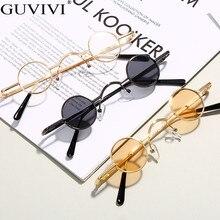 Steampunk Round Sunglasses Women Mirror Vintage Sunglasses