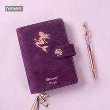 Nigdy nie Mermaid Series A6 czasopisma i notebooki Spiral Planner Organizer pamiętnik zestaw Ofice i szkolne upominki biurowe
