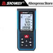 Medidor de distancia láser SNDWAY, telémetro Digital, 120m, 100m, 70m, 50m, regla de nivel electrónico
