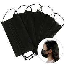 10 20 50 100Pcs Mouth font b Mask b font Disposable Black Cotton Mouth font b