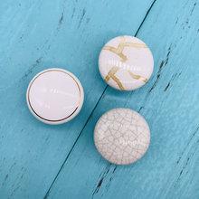 1x perillas de puerta Modernas Decorativas de mármol de cerámica blanca para cocina, baño, armario, vestidor, cajones, armario, tiradores de puerta de armario