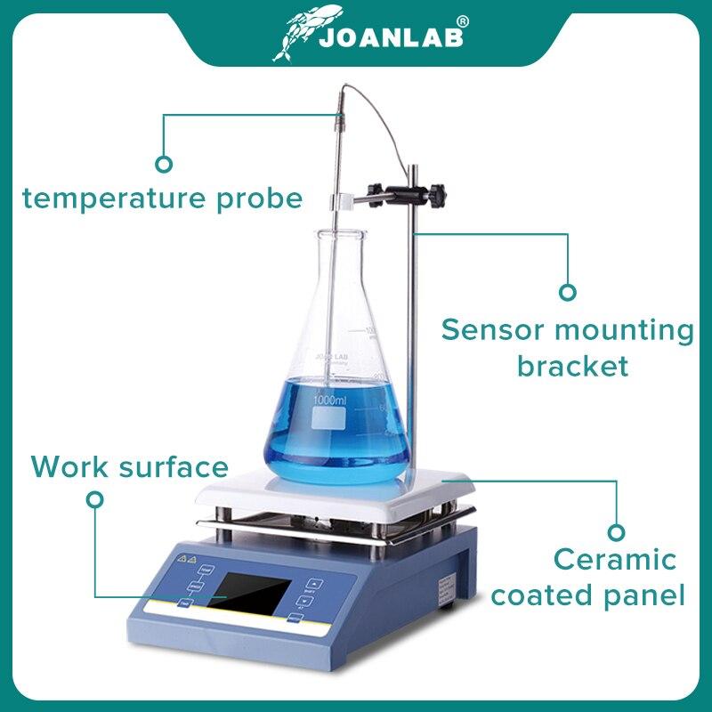 JOANLAB Heating Magnetic Stirrer Hot Plate Lab Stirrer Digital Display Magnetic Mixer Lab Equipment 1L 3L 5L 220v With Stir Bar 3