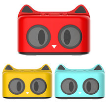 Cute Cat Bluetooth 4.2 Speaker Portable Cartoon Bass Stereo Loudspeakers Support AUX FM TF Card 32G Home Musical Speakers gift(China)