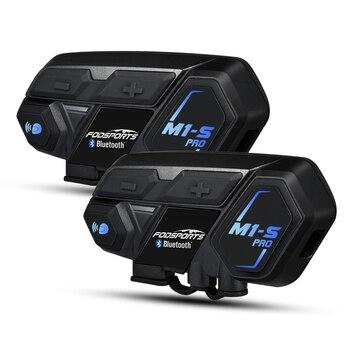 Fodsports Motorcycle Bluetooth Helmet Intercom 8 riders 2000M M1S Pro Waterproof Wireless Headset intercomunicador Interphone