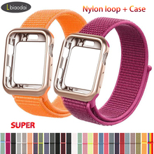 crested sport nylon band for apple watch 3 42mm 38 mm wove nylon watch strap for iwatch series 3 2 1 wrist bracelet watch band Case+watch strap for apple watch 4 band 44mm/40mm correa apple watch 38 mm iwatch band 42mm sport nylon bracelet watchband 3/2/1