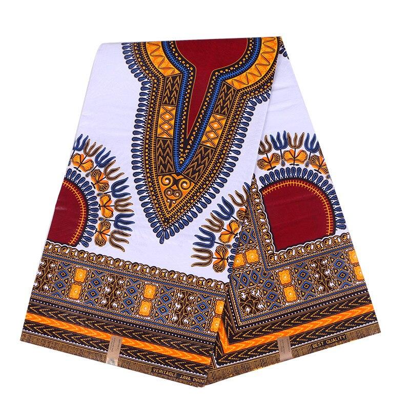 100% Cotton African Traditional Dashiki Print Fabric Wax African Real Wax 6Yard