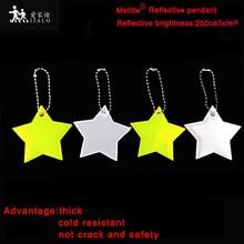 Meilite материал 250 свечи огни мягкий ПВХ звезда отражатель светоотражающий брелок подвесные аксессуары для сумок для безопасности дорожного движения