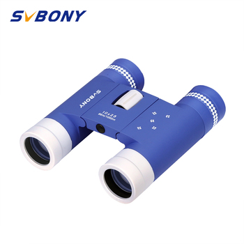 SVBONY Compact 10x25 Binoculars Folding BK7 Roof Prism Telescope Adult Children for Sporting Events SV204 Outdoor Indoor 8x21 kids binoculars compact binocular roof prism for bird watching educational learning christmas gifts children toys