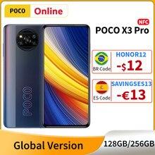 POCO X3 Mundial Pro Versão 128GB/256GB Snapdragon 860 Smartphones 6.67 ''120Hz DotDisplay 5160mAh 48MP 33W Carga Rápida Câmera NFC