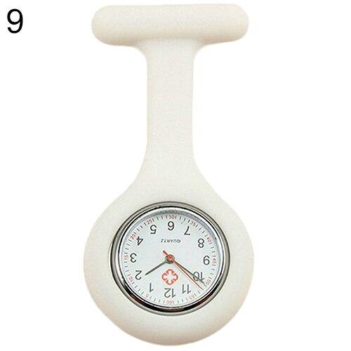 Модные повседневные женские часы Fob, милые силиконовые часы, часы для медсестры, брошь Fob, туника, кварцевые часы с механизмом, медицинские часы, reloj de b - Цвет: Белый