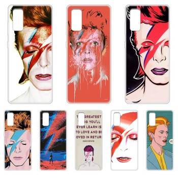 Art david bowie luxury shell Transparent Phone Case For SamSung Galaxy S 7 8 9 10 11 20 a 20e 50 51 70 71 Plus Edge Ultra image