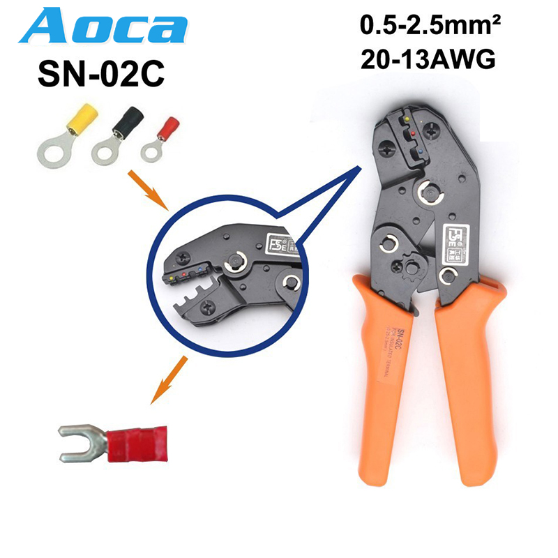 <font><b>HS</b></font>-<font><b>30J</b></font>/25J/40J 0.25-6mm2 23-10AWG crimping pliers for insulated terminals and connectors SN-02C european brand tools image