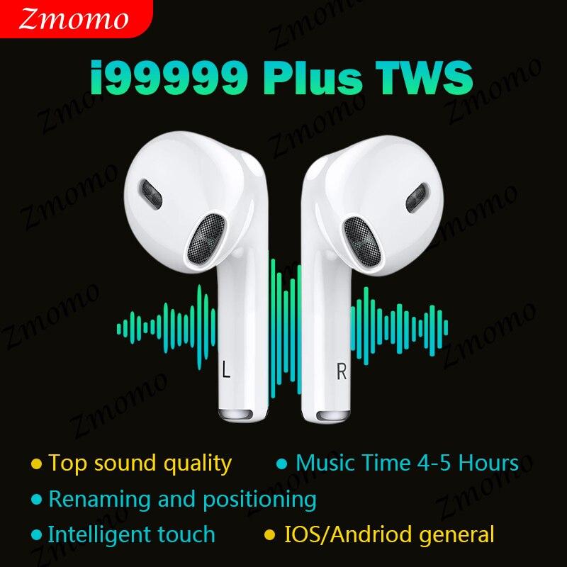 Original i99999 plus tws fones de ouvido bluetooth sem fio super bass pk i90000 i999999 i900000