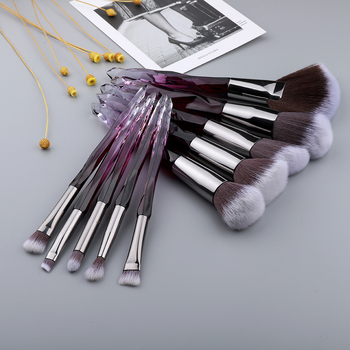 FLD 10Pcs Crystal Makeup Brushes Set Powder  1