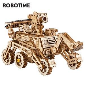 Image 1 - Robotime rokr diyソーラーエネルギー木製ブロックおもちゃモデル構築キットスペース狩猟組立おもちゃ子供のため