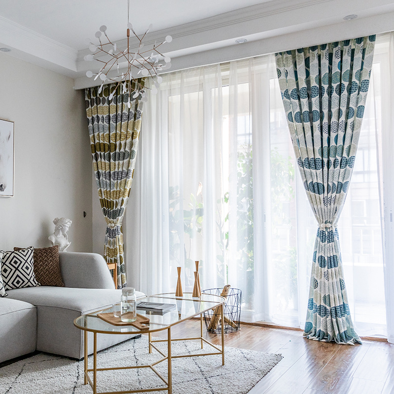 Modern And Simple New Twill Printing Curtains For Living Dining Room Bedroom.