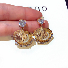Natural Shell Pearl Earrings Shine Gold/Silver Beach Drop Earring for Woman Jewelry Gifts Bohemian New Fashion