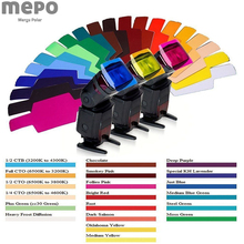 Flash Speedlight Color Gel Filter For Canon Nikon Sony Camera Colorful Filter Cards For Yongnuo Photography