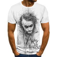 2021 Summer Hot Sale Clown T-shirt Male/Female Wild Mask 3D Printed Horror Street Fashion Printed T-shirt Oversized XXS-6XL