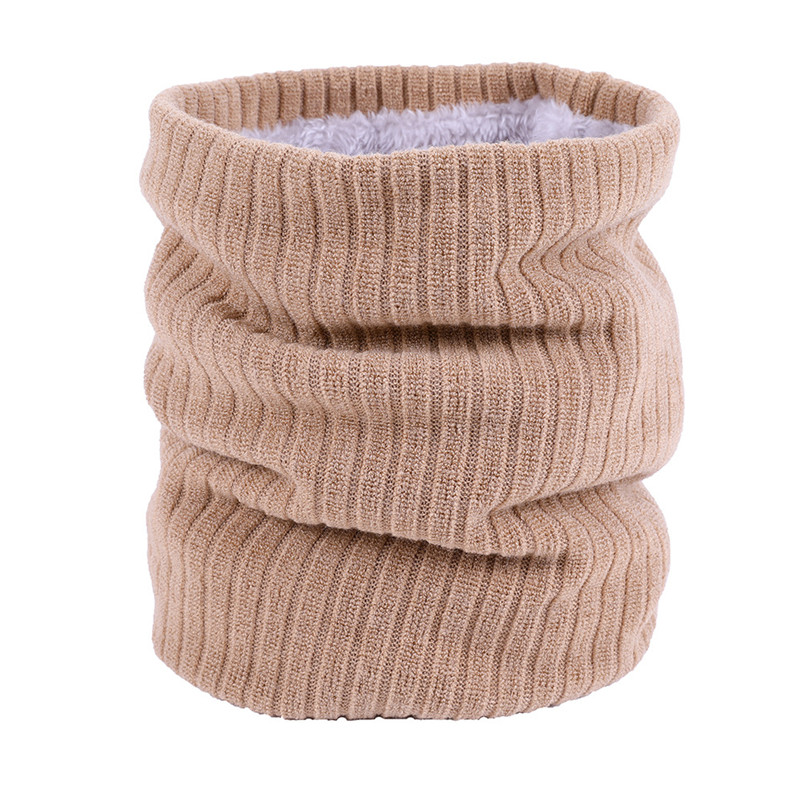 Unisex Winter Boys Girls Women Men Warm Knitted Scarves Kids Velvet Elastic Mufflers Children Neck Warmer Crochet Baby Scarf