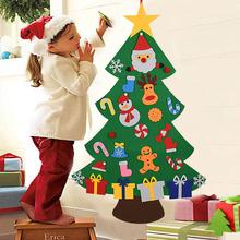 Kids DIY Felt Christmas Tree Christmas Decoration for Home Navidad 2021 New Year Gifts Christmas Ornaments Santa Claus Xmas Tree cheap ZQNYCY CN(Origin) CH229 260g-292g