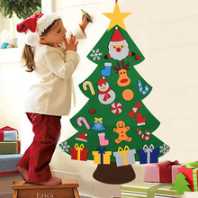 Navidad Christmas-Ornaments Gifts Xmas-Tree Kids Home New-Year DIY Felt for Santa-Claus