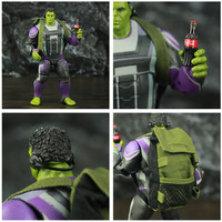 Avengers Endgame Hulk with Infinity Gauntled, Quantum Suit, Coat and Pants 8inch. 6