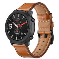 Watch Strap For Huami Amazfit GTR 47mm 42mm Bracelet Genuine Leather Wristband For Huami Amazfit Pace Stratos Strap 22mm 20mm