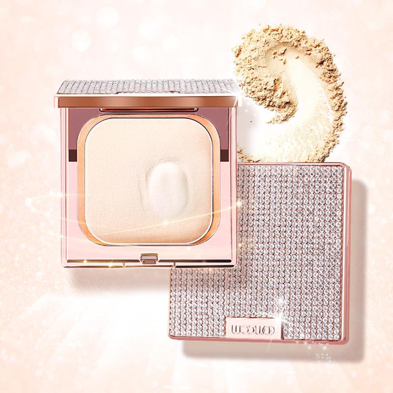WODWOD Shinny Diamond Soft Translucent Compact Pressed Powder Contour Palette Finishing Setting Makeup Bare Whitening Skin