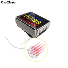 650nm Healthcare Laser Therapy Wrist Low Frequency Hypertension Hyperlipidemia Hyperviscosity Cholesterol Light Treatment Watch цена