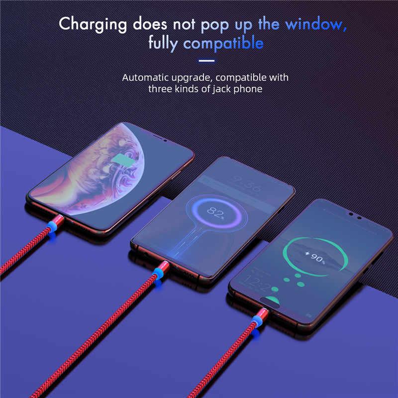 USLION Magnetische Micro USB Kabel Schnelle Lade USB Typ C Kabel Magnet Ladegerät Daten Ladekabel Kabel Für Iphone 7 samsung Xiaomi